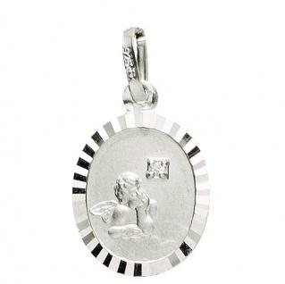 Basic Silber 22.203 Kinder Anhänger Schutzengel Silber Zirkonia weiß