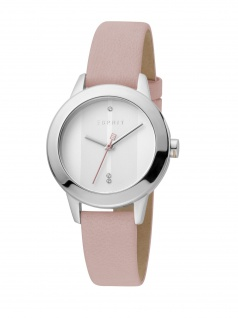 Esprit ES1L105L0215 Tact Uhr Damenuhr Lederarmband Rosa