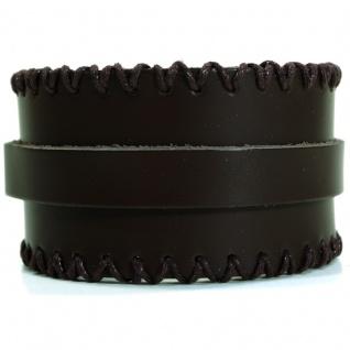 CJBB1902 Herren Armband Leder braun 21 cm