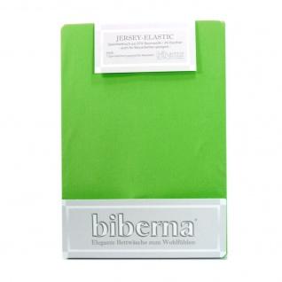 Biberna 77866 Jersey Elastic Spannbetttuch Hellgrün 180x200 200x220