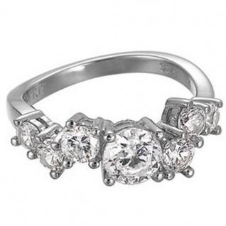 Esprit ESRG91728A Damen Ring Silber glamour criss cross weiß Gr. 53/17