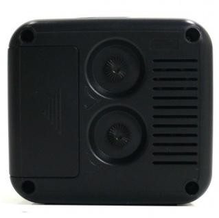 W&S 030409 Wecker Uhr schwarz-silber Analog Licht Alarm - Vorschau 4
