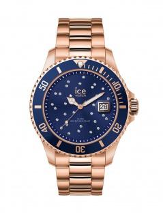 Ice-Watch 016774 ICE steel Blue cosmos Medium Uhr Damenuhr Datum Rose