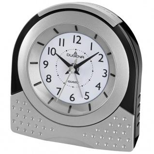 DUGENA 4460600 Wecker Alarm Analog schwarz silber