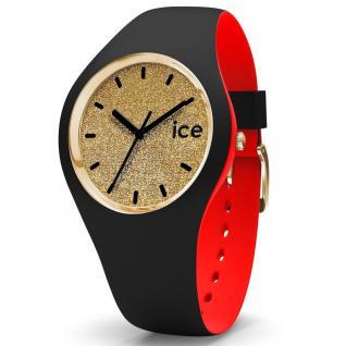 Ice-Watch 007228 Ice loulou gold glitter small Uhr Damenuhr schwarz