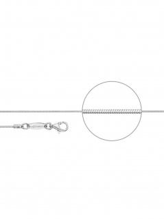 Der Kettenmacher S1-38S Schlangen Kette Silber 38 cm