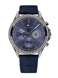 Tommy Hilfiger 1781979 ARI Uhr Damenuhr Lederarmband Datum Blau