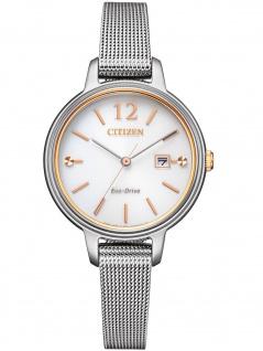 Citizen EW2449-83A Eco Drive Uhr Damenuhr Edelstahl Datum silber