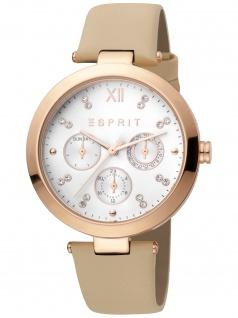 Esprit ES1L213L0025 Florine Cream Rosegold Damenuhr Leder Datum beige