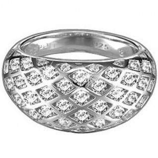 Esprit 4443527 Damen Ring Silber estella shy mit Zirkonia weiß Größe 56 (18, 0 mm )