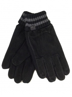 Esprit Suede Knit Glove Schwarz Handschuhe Fingerhandschuhe Gr. 9, 5 - Vorschau 1