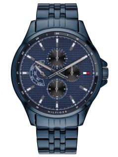 Tommy Hilfiger 1791618 SHAWN Uhr Herrenuhr Edelstahl Datum Blau