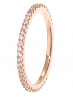 gooix 943-06727-580 Damen Ring Sterling-Silber 925 Rose weiß 58 (18.5)