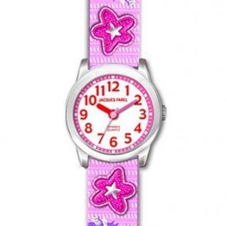 JACQUES FAREL HCC3134 Einhorn Uhr Mädchen Kinderuhr Textil mehrfarbig