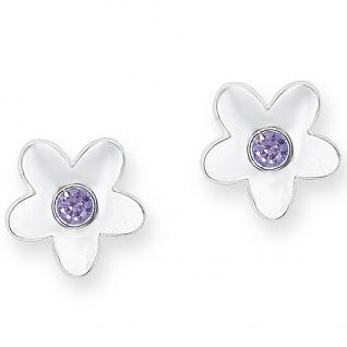 Prinzessin Lillifee PLFS/82 Mädchen Ohrstecker Blume Silber lila