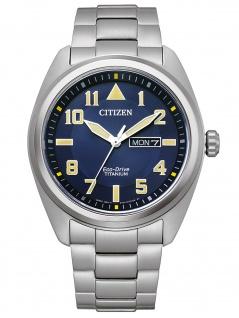 Citizen BM8560-88L Eco Drive Uhr Herrenuhr Titan Datum grau