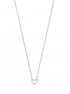 Esprit ESNL00691142 Damen Collier Herz Melody Silber Weiß 45 cm