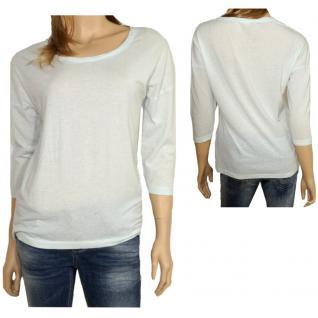Only Damen Shirt 3/4 Arm 15098814 Hella 3/4 O-Neck Top ESS Blau S