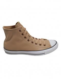 Converse Herren Schuhe CT All Star Hi Beige Glattleder Sneakers 44.5