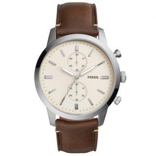Fossil FS5350 TOWNSMAN Chronograph Uhr Herrenuhr Lederarmband braun