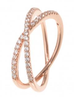gooix 943-06736-540 Damen Ring Sterling-Silber 925 Rose weiß 54 (17.2)