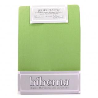 Biberna 77866 Jersey Elastic Spannbetttuch Olivgrün 180x200 200x220