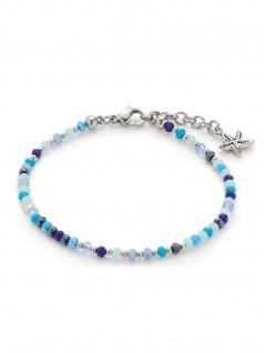 Leonardo 016921 Damen Armband Seestern Capri Silber Blau 18, 5 cm