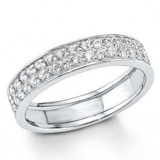 s.Oliver 9079759 Damen Ring Sterling-Silber 925 Silber Weiß 56 (17.8) - Vorschau 1