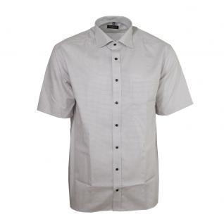 Eterna Herrenhemd Kurzarm Comfort Fit Beige gemustert Hemd L/42