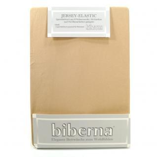 Biberna 77866 Jersey Elastic Spannbetttuch Hellbraun 90x190 100x220