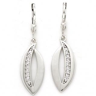 Basic Silber 02.1125 Damen Ohrringe Silber Zirkonia weiß - Vorschau 1