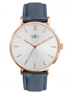 laVIIDA WVI2016R Vienna Uhr Damenuhr Lederarmband Blau