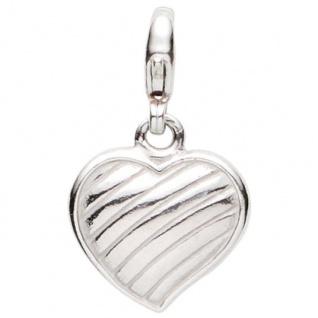 Basic Silber 22.VX097 Damen Charms Herz Silber
