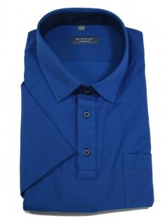 Eterna Herren Polo Shirt Kurzarm Comfort Fit Piqué Blau XXXXL/52