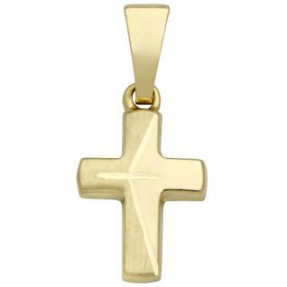 Basic Gold K33 Kinder Anhänger Kreuz 14 Karat (585) Gelbgold