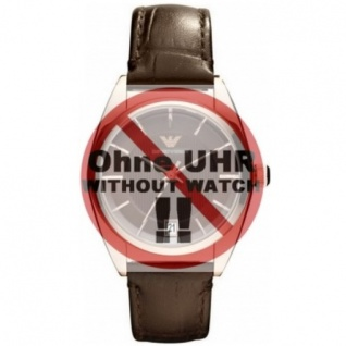 Emporio Armani Uhrenarmband LB- AR0378 Ersatzband AR 0378 Leder 16 mm