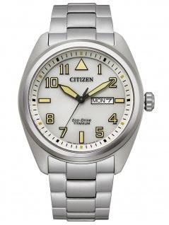 Citizen BM8560-88X Eco Drive Uhr Herrenuhr Titan Datum grau