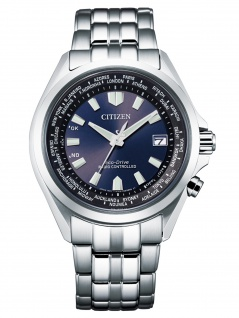 Citizen CB0220-85L Eco Drive Uhr Herrenuhr Edelstahl Datum silber