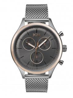 Hugo Boss 1513549 COMPN Chronograph Uhr Herrenuhr Edelstahl Silber