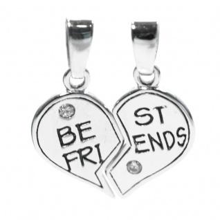 Basic Silber SL16 Anhänger Freundschaftsanhänger Herz Silber