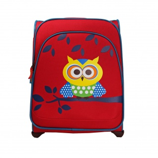 Travelite Youngster 2 Rollen Rot Eule 43 cm Trolley 22 L 81667-10