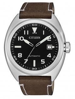 Citizen NJ0100-11E Uhr Herrenuhr Lederarmband Datum Braun