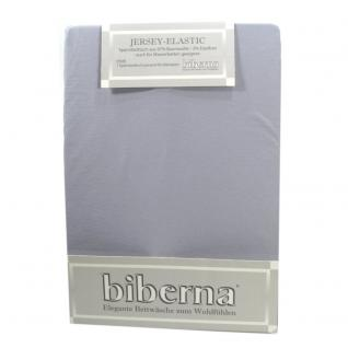 Biberna 77866-017 Jersey Elastic Spannbetttuch Grau 180x200 200x220