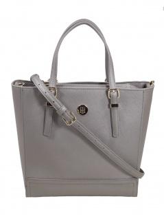 Tommy Hilfiger Damen Handtasche Tasche Honey M Workbag Grau AW0AW07410