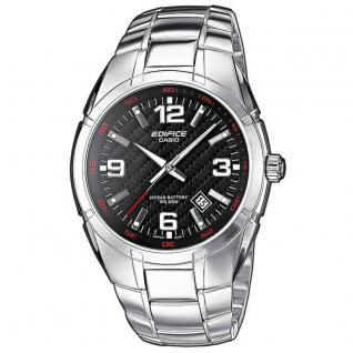 CASIO EF-125D-1AVEF EDIFICE Uhr Herrenuhr Edelstahl Datum schwarz