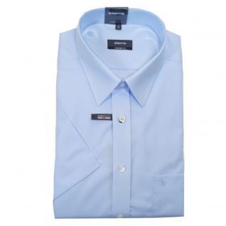 Eterna Herrenhemd Kurzarm 1100/10/K198 Comfort Fit Hellblau Gr. XL/44