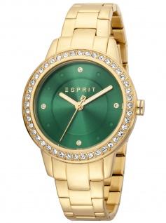 Esprit ES1L163M0105 Harmony Green Gold Uhr Damenuhr Edelstahl gold