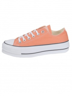 Converse Damen Schuhe CT All Star Lift Ox Orange Leinen Sneakers 39, 5