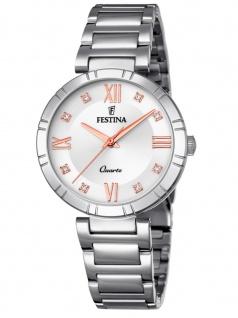 FESTINA F16936/B Uhr Damenuhr Edelstahl Silber