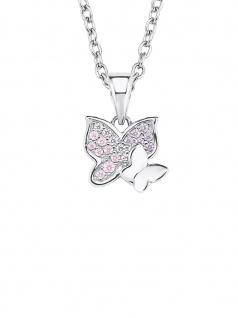 Prinzessin Lillifee 2021103 Collier Schmetterling Silber Rosa 38 cm